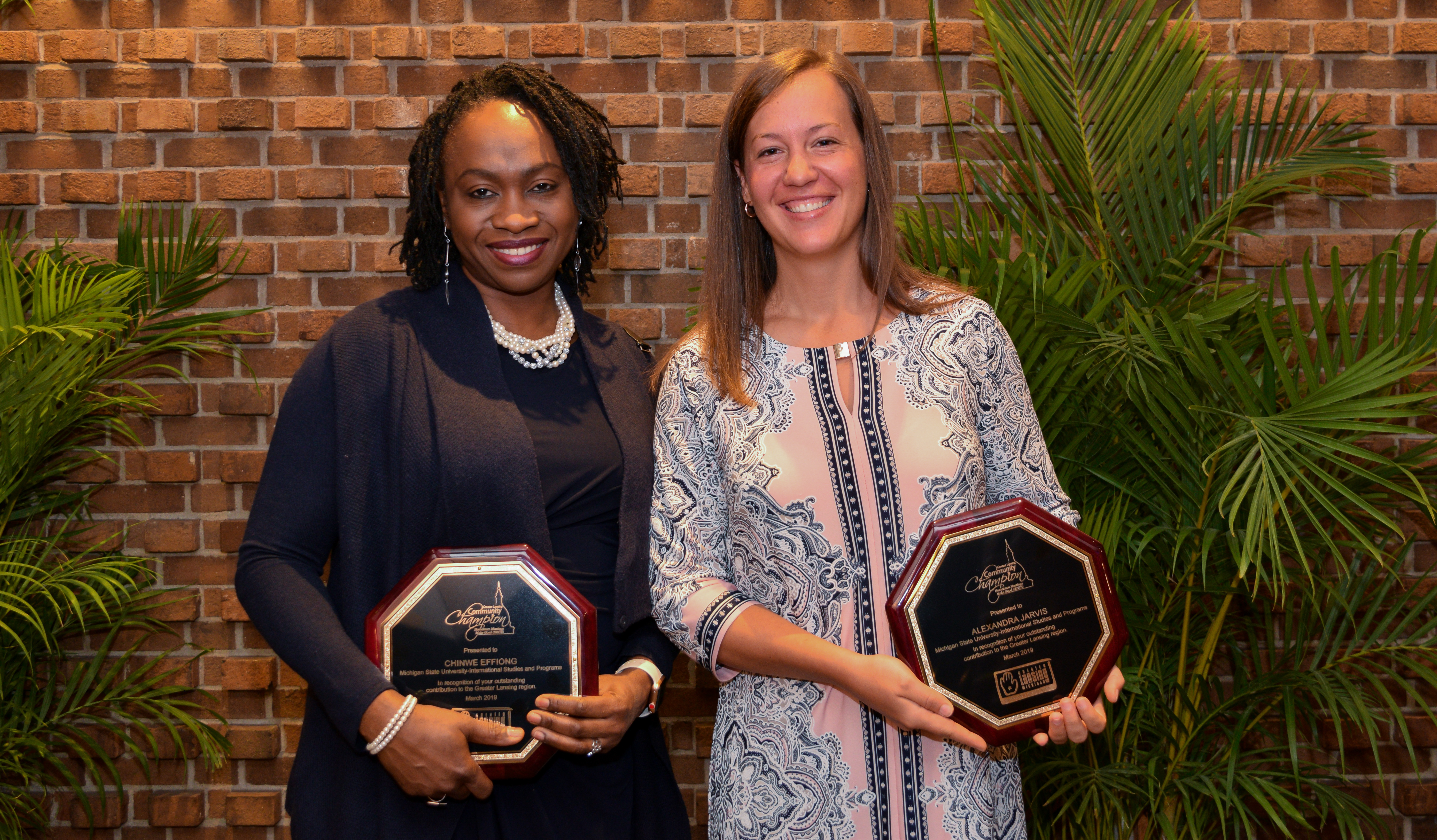 GYAN staff pictured with awards